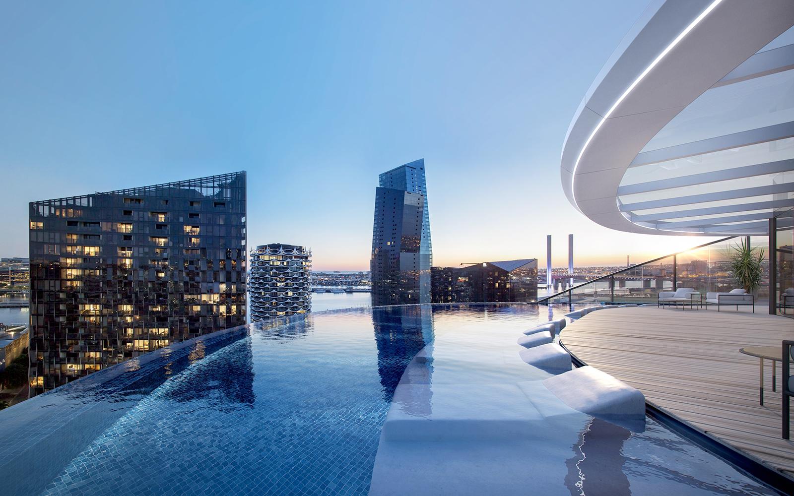 Docklands Marriot rooftop pool