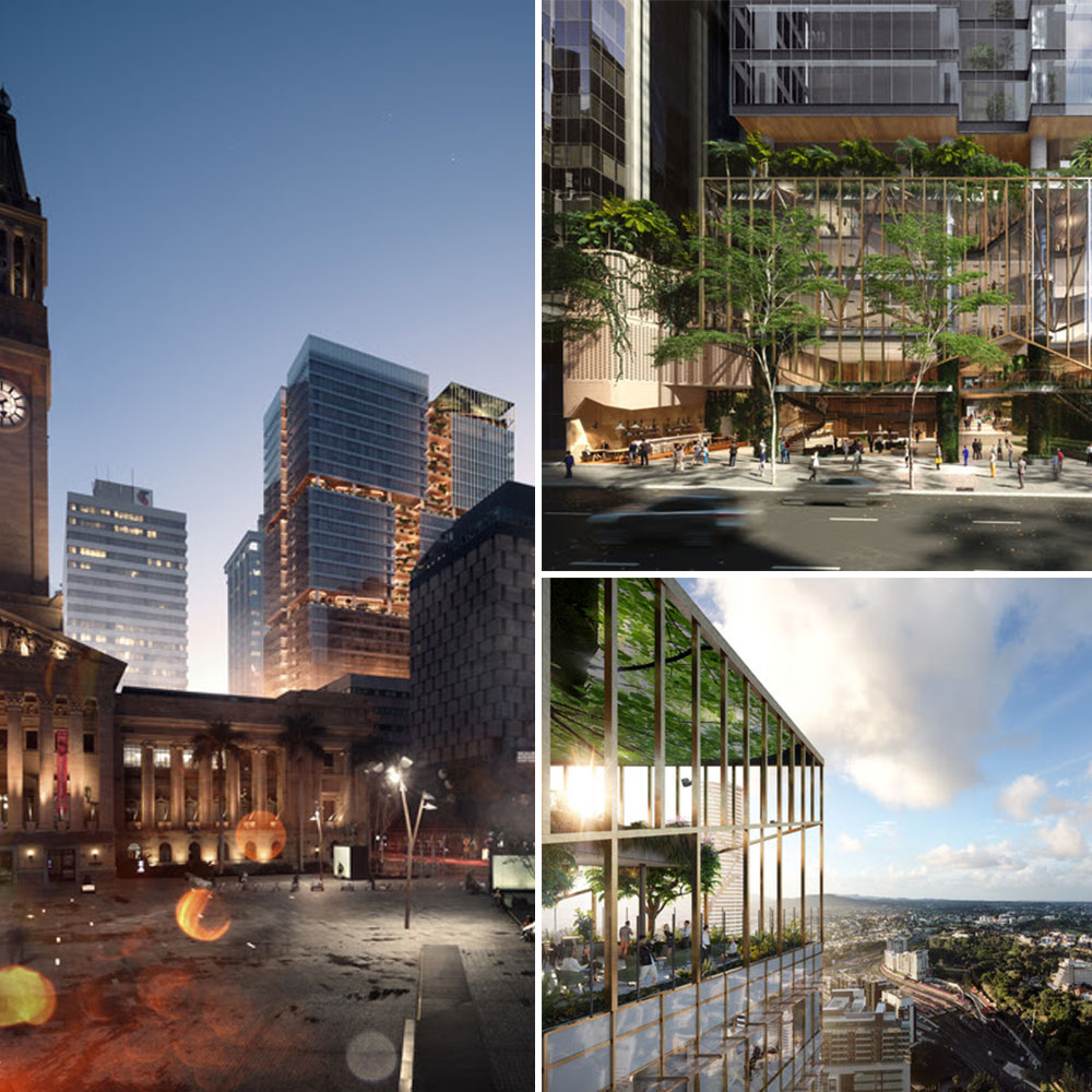 """The $800 million, 32-storey development has been described as a """"city within a building"""", spanning an entire block between Ann and Turbot streets. Suncorp will lease 39,600sq m, or 66%, of the tower."""