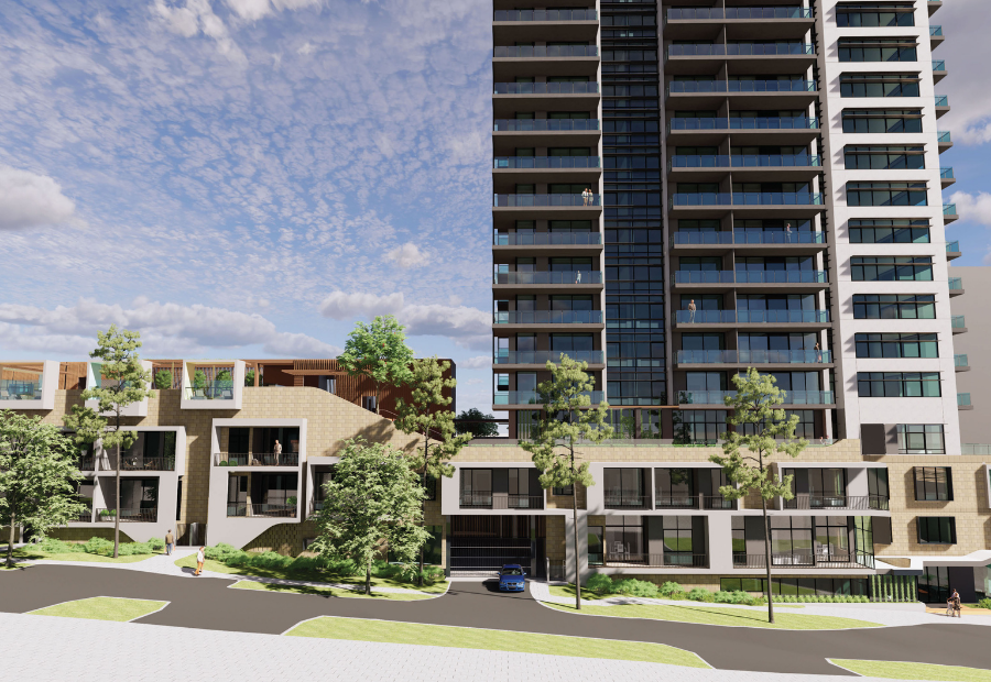 Artist's impression of Sentinel's planned build-to-rent project at Scarborough in Perth