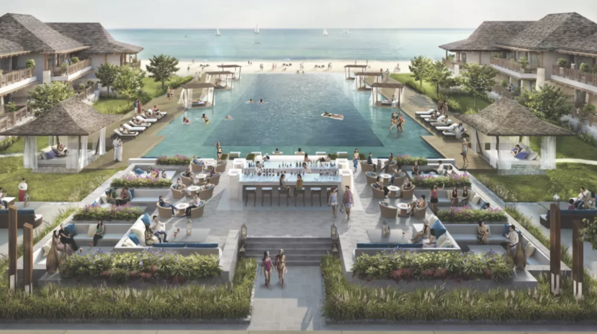 An artist's impression of the island redevelopment released earlier this year