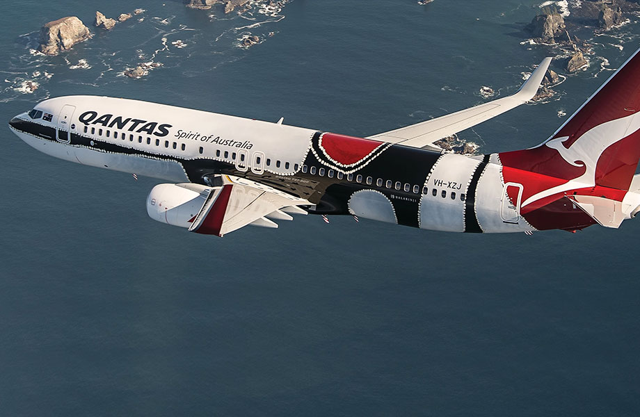 In 2013 Qantas unveiled the fourth aircraft in the Indigenous Flying Art Series, designed by Balarinji Studio, inspired by the work of the late West Australian Aboriginal artist Paddy Bedford.