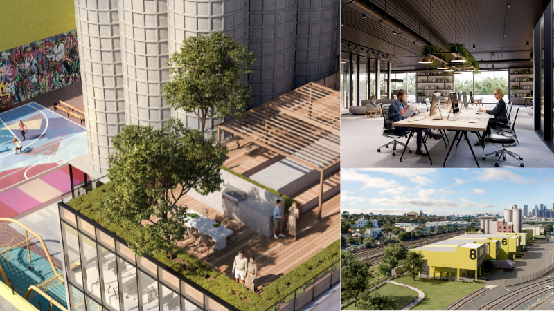 ▲ Lennons Mill is a $100m two-stage industrial devleopment that includes rooftop spaces, modern office facilities, and a craft spirit distillery.