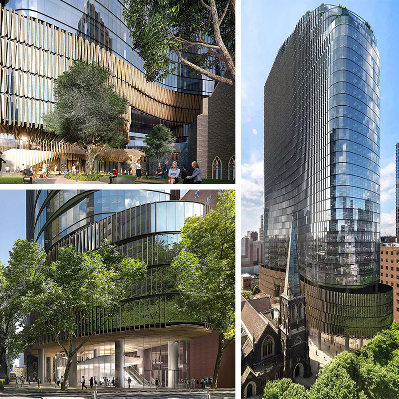 The 1-hectare Wesley Place precinct will yield $1.3 billion worth of office towers.