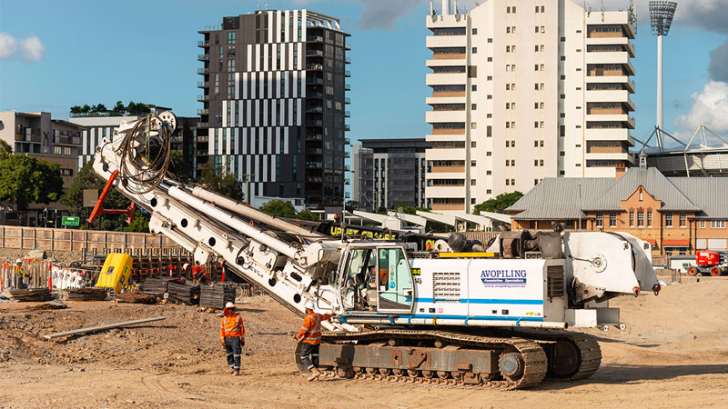 ▲ Works at the 16,000-square metre Woolloongabba Station site began in September 2018, and building demolition was completed in February 2019.